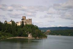 slott gammala poland Arkivfoto