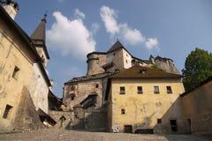 slott gammala slovakia Arkivfoto