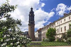 slott germany weimar arkivbild