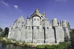 slott ghent Arkivbild