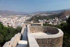 Slott Gibralfaro i Malaga, Spanien arkivfoto