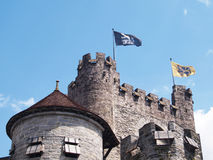 Slott Gravensteen, herre, Belgien Royaltyfri Fotografi