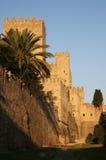 slott greece rhodes Arkivfoton