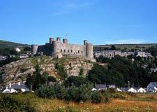 Slott Harlech, Wales. Royaltyfria Bilder