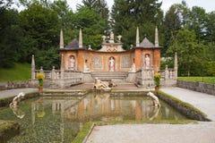 Slott Hellbrunn nära Salzburg (Österrike) Arkivbilder