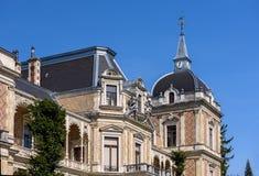 Slott Hermesvilla som byggs i 1882 - 1886 i Lainzeren Tiergarten, i Wien, Österrike Royaltyfri Bild