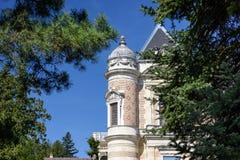 Slott Hermesvilla som byggs i 1882 - 1886 i Lainzeren Tiergarten, i Wien, Österrike Royaltyfri Foto