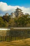 slott himeji majestätiska japan Royaltyfri Bild