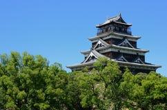 slott hiroshima Royaltyfri Fotografi
