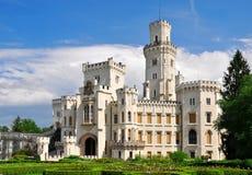 Slott Hluboka nad Vltavou royaltyfri bild
