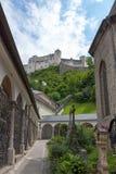 Slott Hohensalzburg, Salzburg, Österrike Arkivbilder