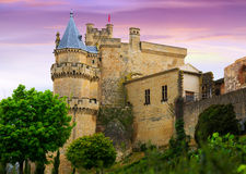 Slott i afton spain Royaltyfria Bilder