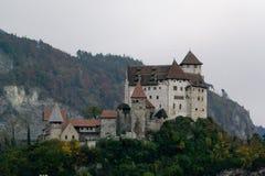 Slott i Balzers, Lichtenstein Royaltyfria Bilder