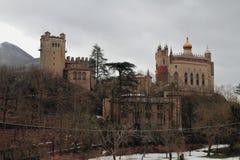 Slott i berg Riola Bologna, Emilya-Romagna, Italien Arkivbilder