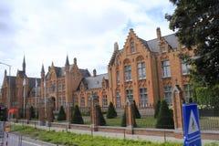 Slott i Bruges Belgien Fotografering för Bildbyråer