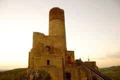 Slott i ChÄ™ciny Arkivfoto