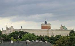 Slott i den gamla staden av Lublin Arkivfoton