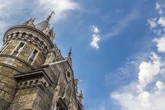Slott i den gotiska stilen Arkivbilder