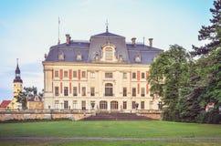 Slott i den Pszczyna staden i Polen Royaltyfria Bilder