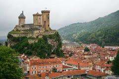 Slott i Foix Fotografering för Bildbyråer