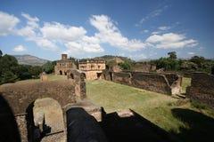 Slott i Gondar, Etiopien Arkivfoto