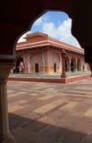 Slott i Jaipur. Arkivbild
