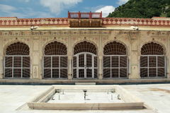 Slott i Jaipur. Arkivfoton