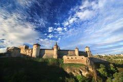 Slott i Kamenetz-Podolsk Arkivbild