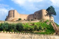 Slott i Khorramabad Arkivfoto