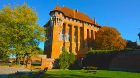 Slott i krakow Polen, en viktig gammal sida royaltyfria foton