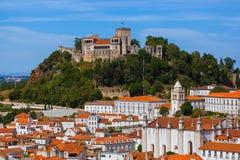 Slott i Leiria - Portugal Arkivfoto