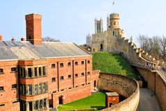 Slott i Lincoln, England Royaltyfri Bild