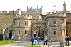 Slott i Lincoln, England Arkivfoto