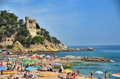 Slott i Loret de Mar Royaltyfria Bilder