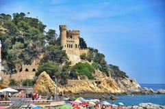 Slott i Loret de Mar Royaltyfri Fotografi