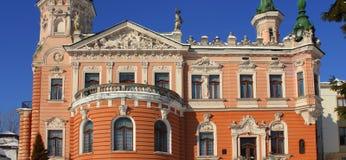 Slott i Lviv (Dunikovskoho villa) 19 - thårhundrade, klassicism Royaltyfri Foto