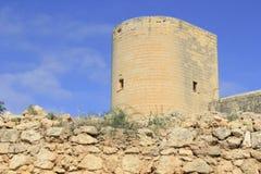 Slott i Mallorca Arkivfoto
