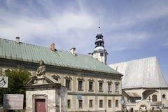 Slott i Miedzylesie i södra Polen arkivbild