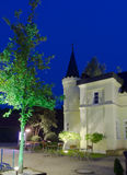 Slott i natten Royaltyfri Bild