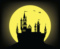 Slott i natten royaltyfri illustrationer