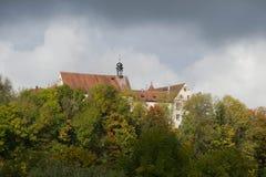 Slott i Niederstetten Royaltyfri Fotografi