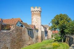 Slott i Obernai Arkivfoton