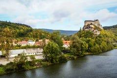 Slott i Orava, Slovakien Arkivfoton