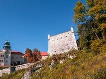 Slott i Pieskowa Skala Royaltyfria Bilder