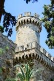 Slott i Rhodes Greece - slotten av den storslagna förlagen Royaltyfri Bild