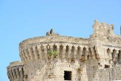 Slott i Rhodes Greece - slotten av den storslagna förlagen Royaltyfria Foton