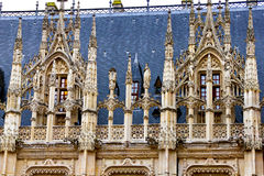 Slott i Rouen Arkivfoto