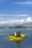Slott i scotland royaltyfria bilder
