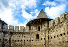 Slott i Soroca, medeltida fästning Arkitektoniska detaljer av det medeltida fortet i Soroca, Moldavien Royaltyfri Bild