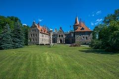 Slott i staden Cesvaine som är gammal 14th århundrade för medeltida slott Latv Arkivfoton